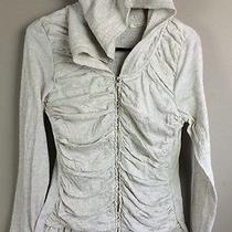 Anthropologie Superfluous Bellows Hooded Ruched Cardigan Pure  Good Large L Photo