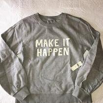 Anthropologie Sweatshirt Medium Make It Happen Nwt Ashley Brown Durand Photo