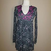 Anthropologie Sweet Pea Small Floral Knit Tie Dress Photo