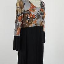 Anthropologie Sweet Pea Stretch Wear to Work Dress Black Multi Empire Large  Photo