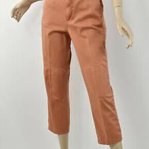 Anthropologie Terra Cotta Cropped Slim Chino Pants Stretch Cotton Twill Capri 29 Photo