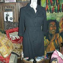 Anthropologie the Hanger Trendy Sharp Jet Black Dress Size L Photo