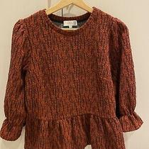 Anthropologie Thick Puff Sleeve Loose Fit Textured Top Size Xs /s Photo