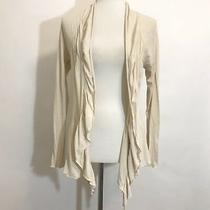 Anthropologie Tiny Womens Open Front Drape Cardigan Sweater Size Small Beige Photo