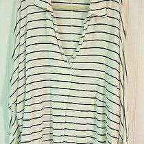 Anthropologie Top by We the Free Striped Size Large Photo
