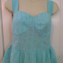 Anthropologie Tulle Aqua Summer Eyelet Blouse Top Medium Photo