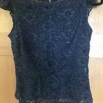 Anthropologie Tulle Black Lace Top Back Zipper Photo