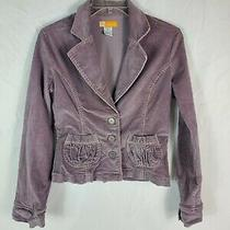 Anthropologie Tulle Corduroy Light Purple Lavender Jacket Blazer Size Medium  Photo