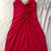 Anthropologie Velvet Sleeveless Little Red Dress S Photo