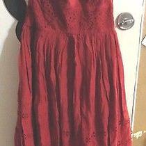 Anthropologie Viola Red Eyelet Dress Photo
