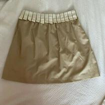 Anthropologie Walter Ivory Beige Cream Taupe Khaki Skirt Zip Size 8 Rn123118 Photo