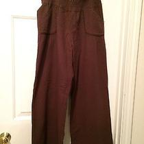 Anthropologie Wide Leg Loungers Brown Size Med. Photo