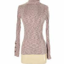 Anthropologie Women Pink Turtleneck Sweater S Photo