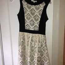 Anthropologie Women's Black and White Dress Size 0 Photo