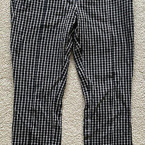 Anthropologie Women's Size 6 Black & White Checked Dress Cropped Pants Photo