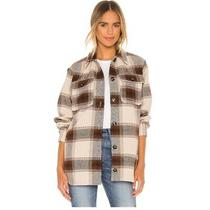 Anthropologie X Bb Dakota Lucky Lumber Shacket Jacket Sz. Xs Plaid Flannel  Photo