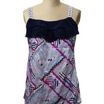 Anthropologie Yumi Kim Sz S Top Multi Geometric Braided Straps Sleeveless Party Photo
