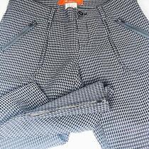 Anthropology Cartonnier Textured Ankle Zip Pants. Dark Grey. Zipper & Button Fly Photo