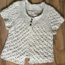 Anthropology Kaisely Chunky Knit Short Sleeve Sweater Size Small Wool Mix Photo