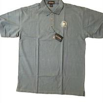 Antigua Mens Dark Blue Cotton Golf Coaches Assoc. of America Polo Shirt L Photo