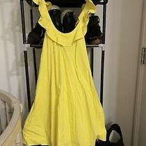 Antik Batik Size Small Yellow a Line Ruffle Strap Dress Photo