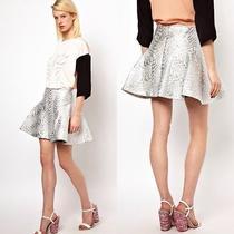 Antipodium Silver Radial Skirt Photo