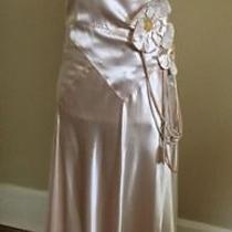 Antique 1920s Silk Flapper Deco Blush Pink Wedding Formal Long Dress Princess Photo