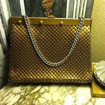 Antique 1940's Whiting and Davis Gold Mesh Purse  Photo