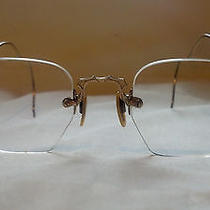 Antique American Optical 1/10 12k Gold Filled Rimless Eye Glasses Spectacles Photo