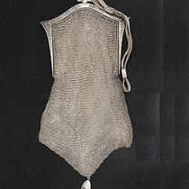 Antique Art Deco Whiting and Davis Mesh Bag Purse With Tassel Photo