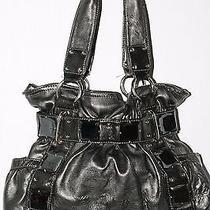 Antique Bronze Metallic Large Vinyl Hobo Handbag by Kathy  Good Condition Photo