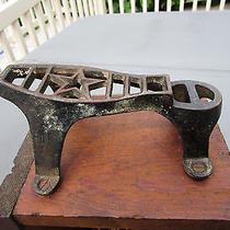 Antique Cast Iron Shoe Shine Foot Rest Photo