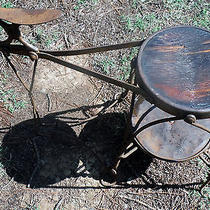 Antique Cobbler or Shoe Shine Stool Stand Photo