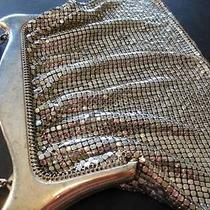 Antique Designer Signed Whiting Davis Silver Mesh Purse 1920's 7