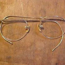 Antique Eye Glasses Ao 1/10 12k Gold Filled Gf Frames American Optical W/case    Photo