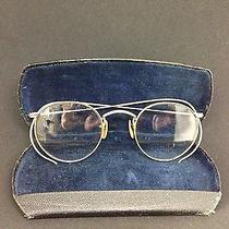 Antique Eye Glasses Ao American Optical 1/10 12k Gold Filled Gf Wire Frame Rose Photo