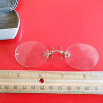 Antique Eye Glasses in Case Photo