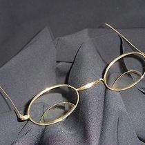 Antique Eyeglasses Stevens Co 12k Gold Filled Steampunk Bifocal Glasses Photo