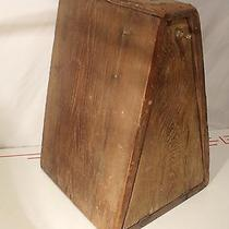 Antique Folkart Shoe Shine Wooden Handmade Box Photo