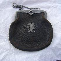 Antique Leather Sterling Silver Tiffany and Co  Handbag Purse 1800's Photo