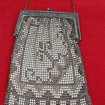Antique Metal Mesh Flapper Purse Whiting & Davis co.multi Color Designs Photo