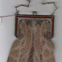 Antique Purse Whiting & Davis Dresden Enameled Purse Frame Photo