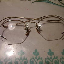 Antique Semi-Rimless American Optical Eye Glasses 1/10 12k Gold Put Your Lens In Photo