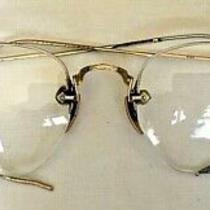Antique Semi-Rimless Rx Eyeglasses 1/10 12k Gold Filled Ao American Optical  Photo