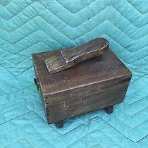 Antique Shoe Shine Box With Brushes Photo