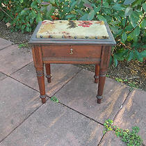 Antique Shoe Shine Table With Contents Photo