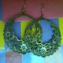 Antique Silver Earrings Photo