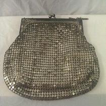 Antique Silver Mesh Metallic Whiting and Davis Clutch Purse Photo