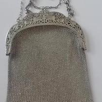 Antique Sterling Silver Lady's Mesh Purse Fancy Griffin  Frame Chatelaine Clip Photo