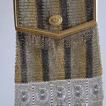 Antique Sterling Silver Mesh Multi-Colored Ladies Bag Circa 1920's Photo